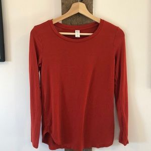 Old Navy Luxe Burnt Orange Top w/Stretch
